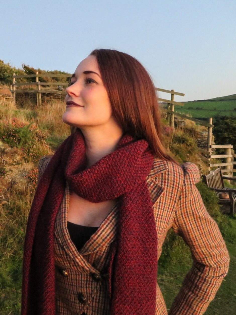 Whortleberry Jam Scarf - by Helena Timms