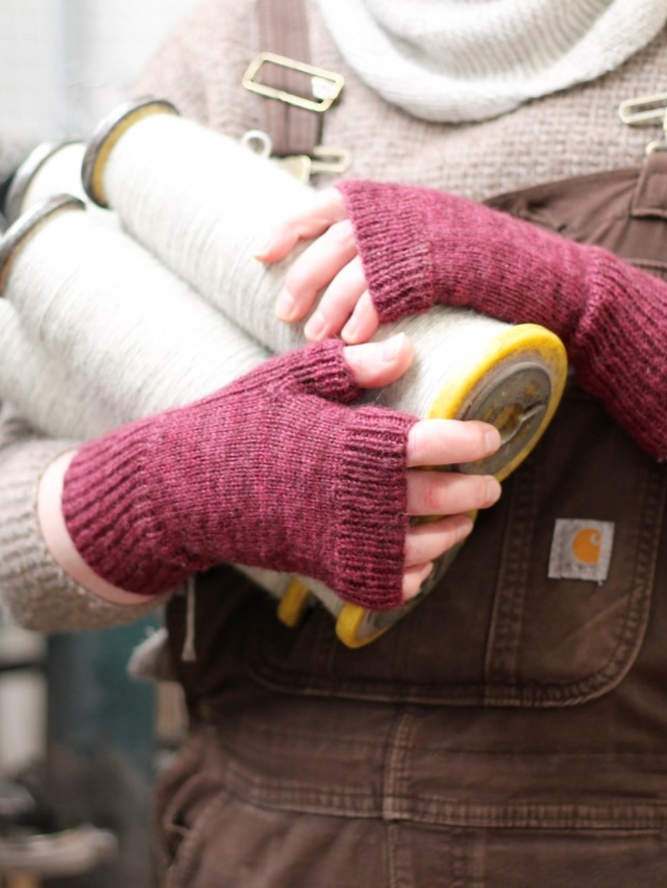 Hand Dyed Working Hands Mitts - by Helena Timms