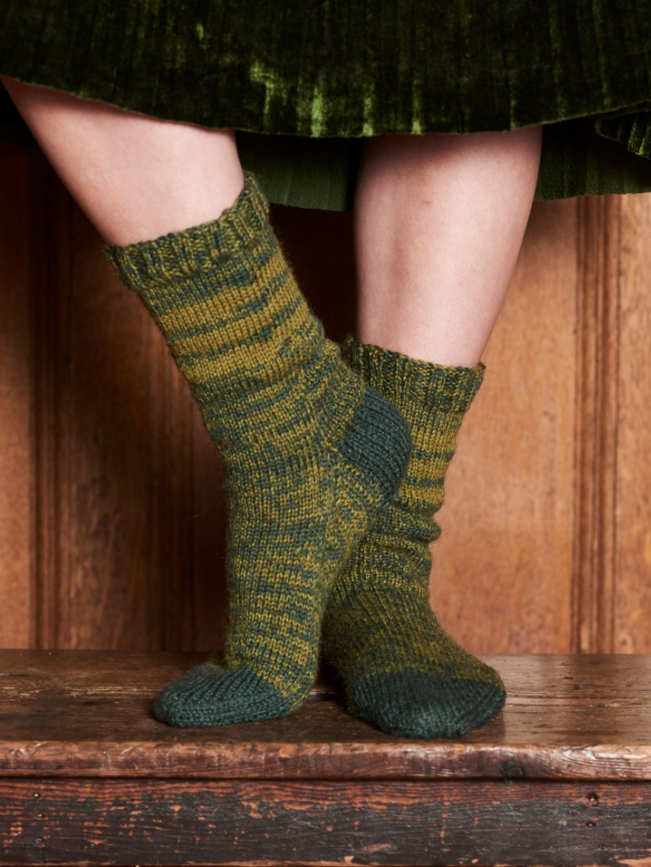 Exmoor Slipper Socks - by Emily Foden