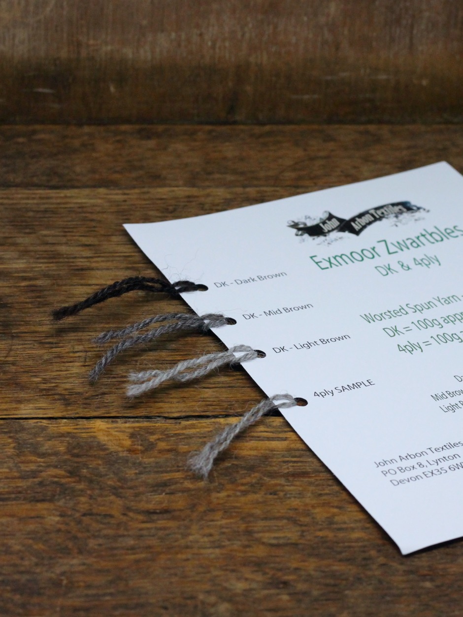Exmoor Zwartbles Shadecard