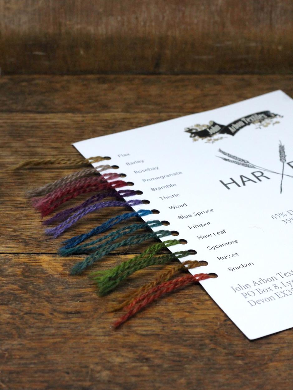 Harvest Hues Shadecard