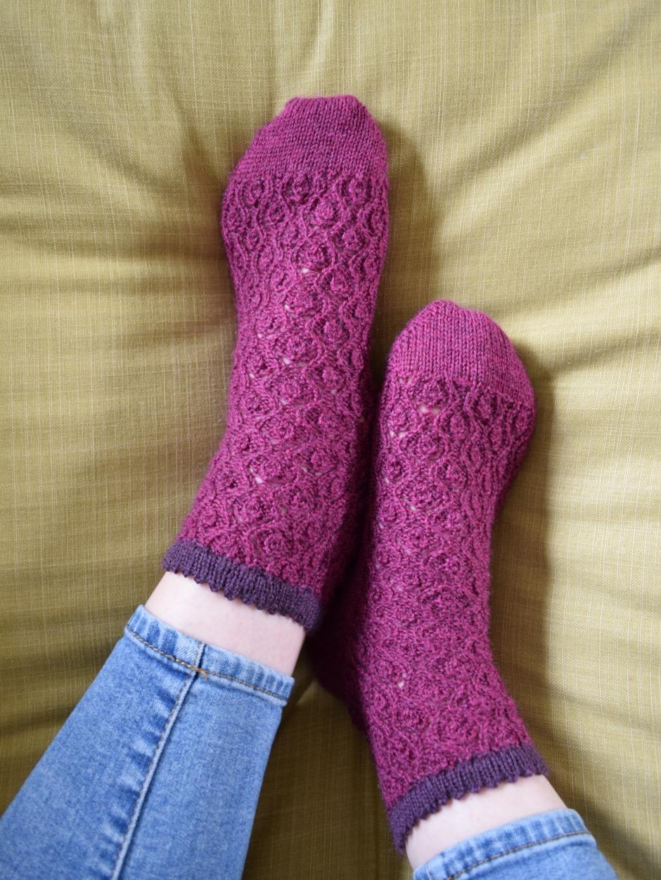 Lynton & Lynmouth Socks - by Rachel Atkinson