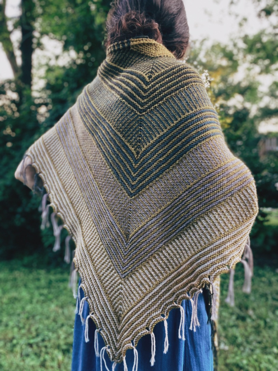 Triangular Polarize Shawl - by Courtney Spainhower